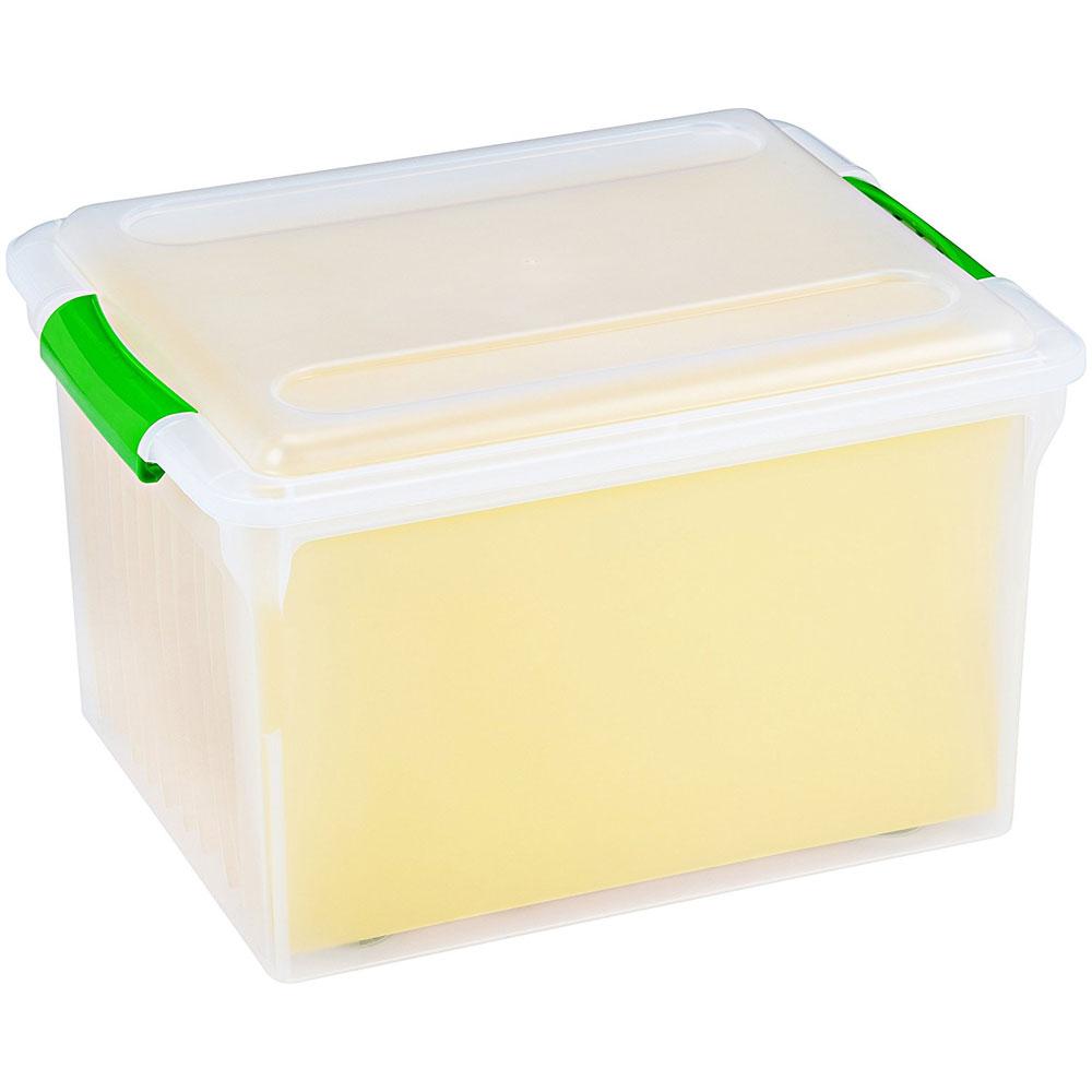 Store and Slide Plastic File Box in File Storage Boxes