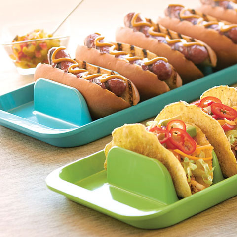 & Taco Holder in Serving Trays