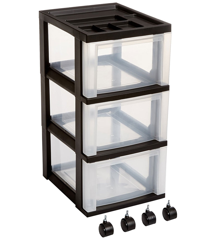 Three Drawer Storage Cart   Black Image. Click Any Image To View In High  Resolution