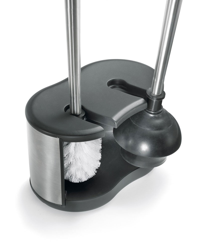 toilet brush and plunger storage caddy in toilet plungers and brushes. Black Bedroom Furniture Sets. Home Design Ideas