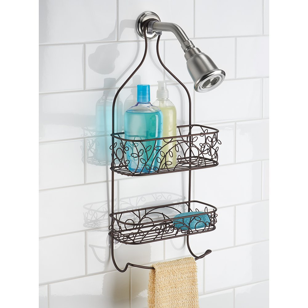 Towel bar shower caddy in shower caddies for Bath shower accessories