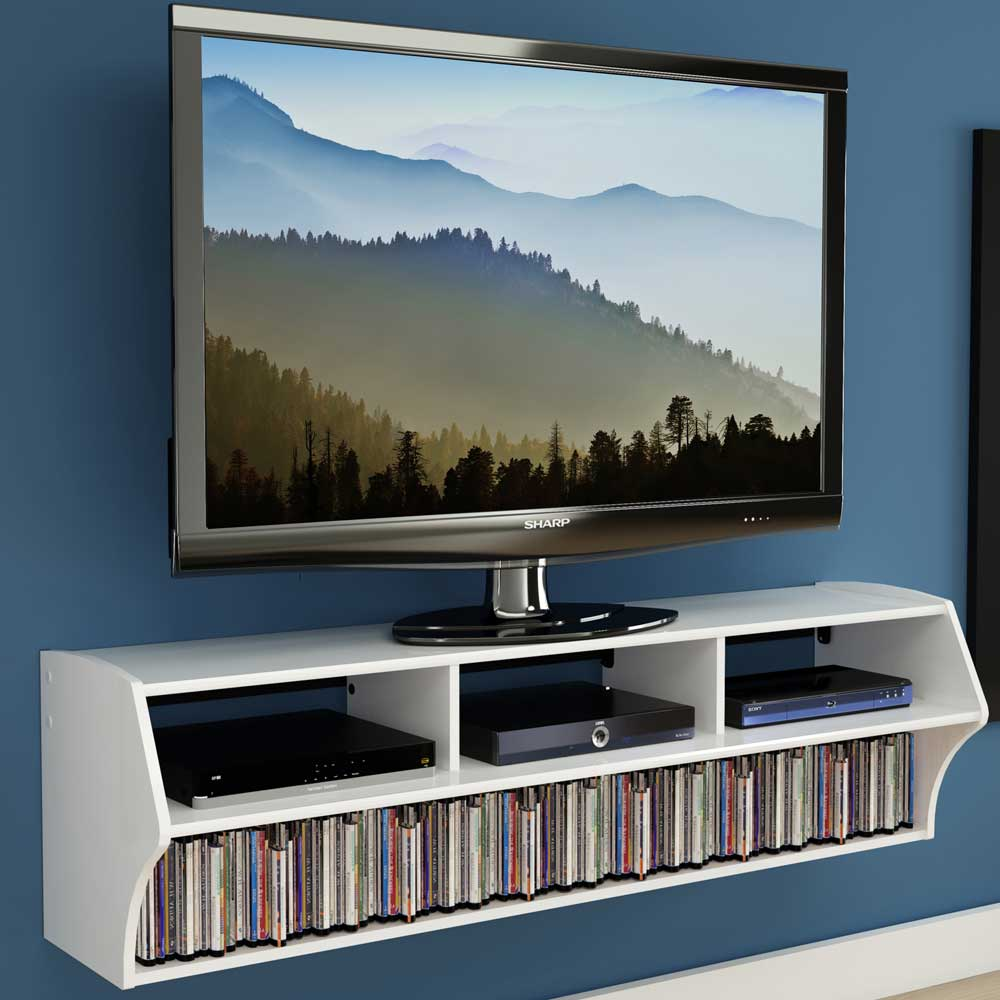 wall mounted tv console in tv stands. Black Bedroom Furniture Sets. Home Design Ideas