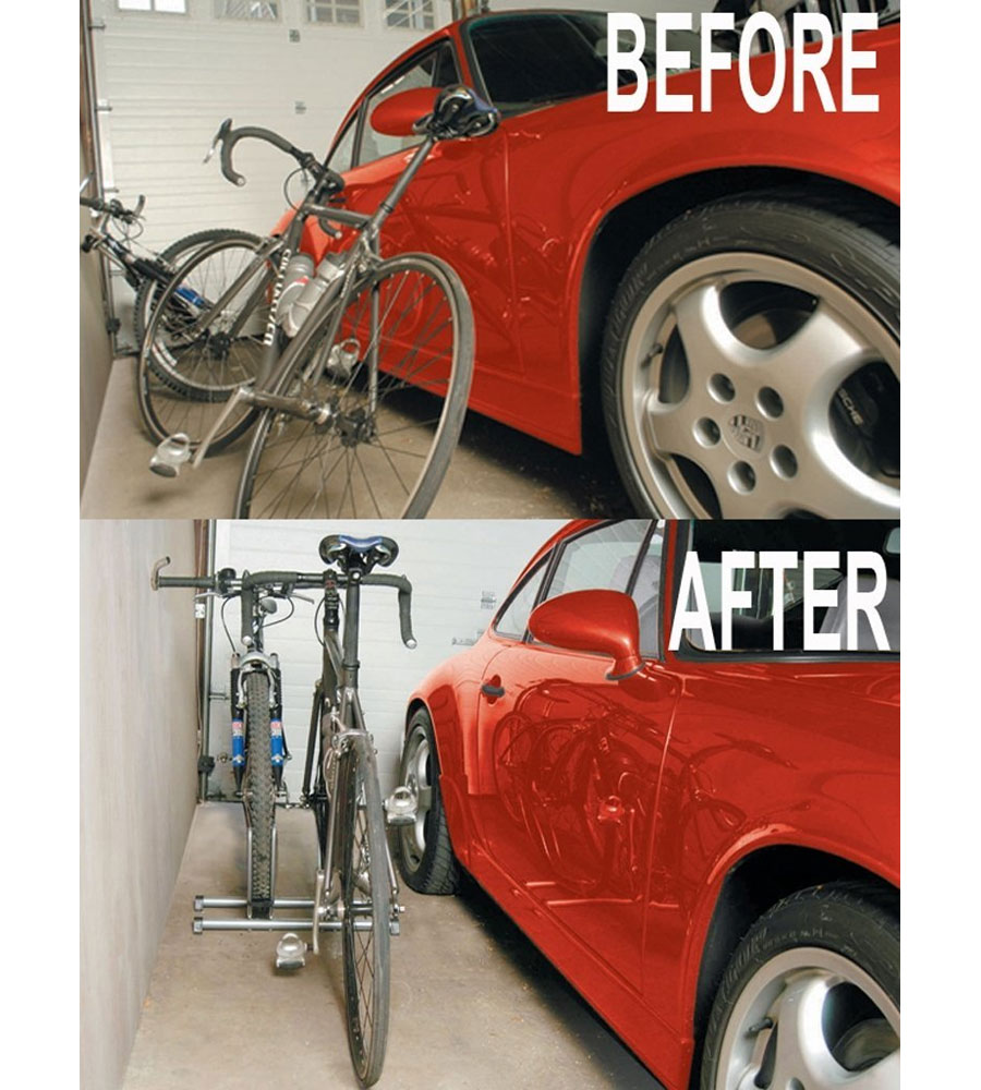 Two Bike Floor Stand Image. Click Any Image To View In High Resolution