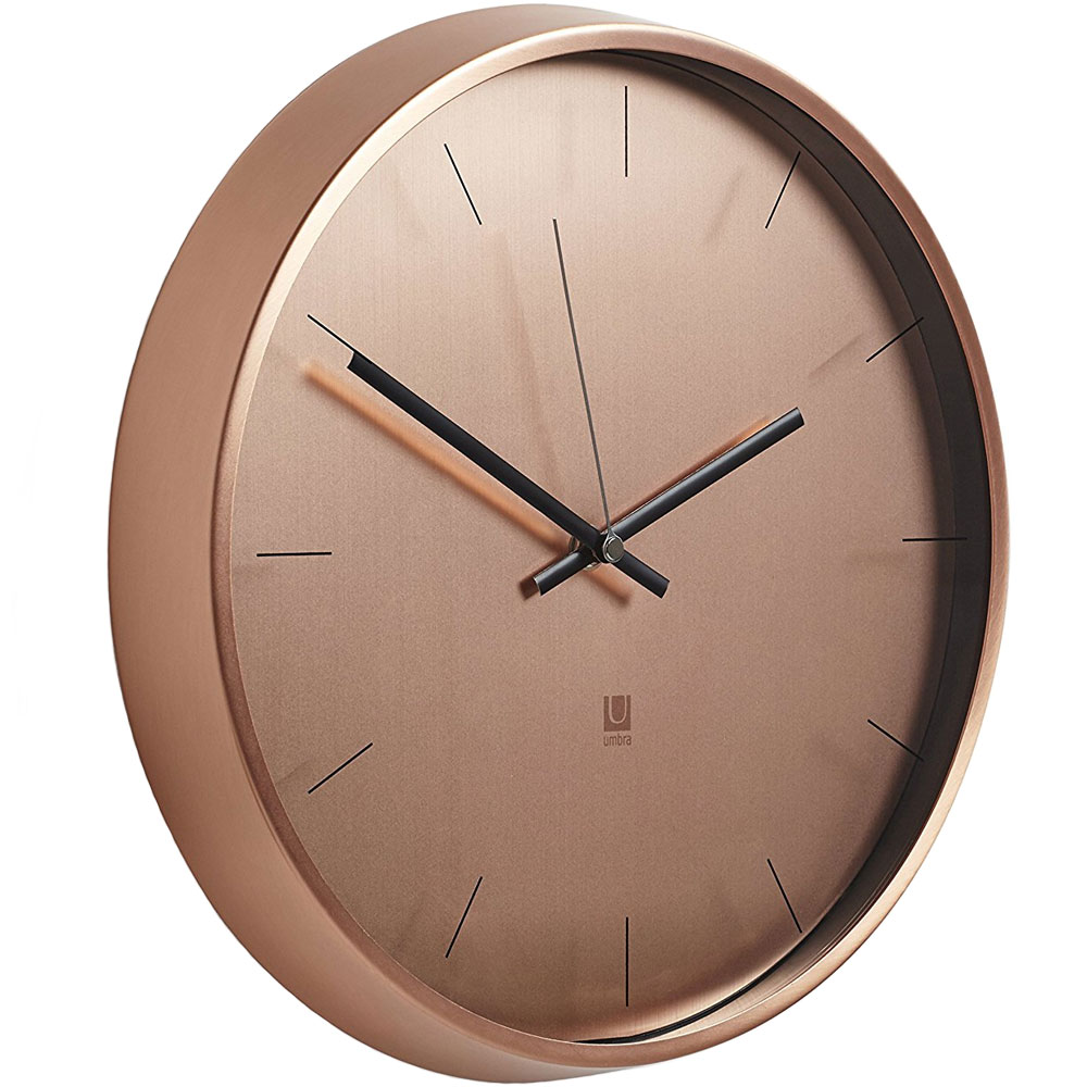 Umbra Metal Wall Decor : Umbra metal wall clock in clocks