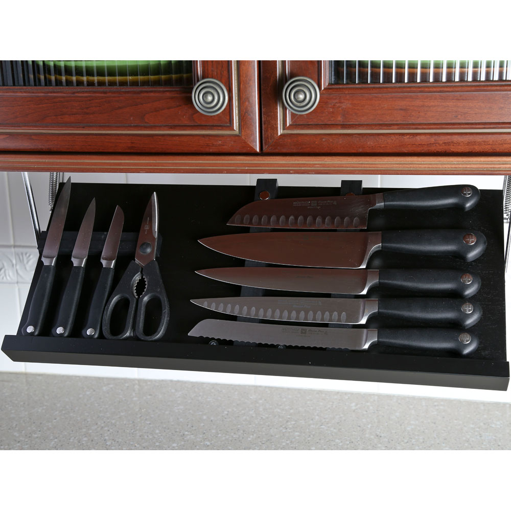 Under Cabinet Knife Block Black In Knife Storage