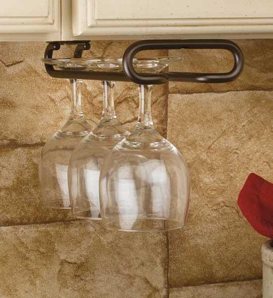 Under Cabinet Stemware Rack Small In Wine Glass Racks