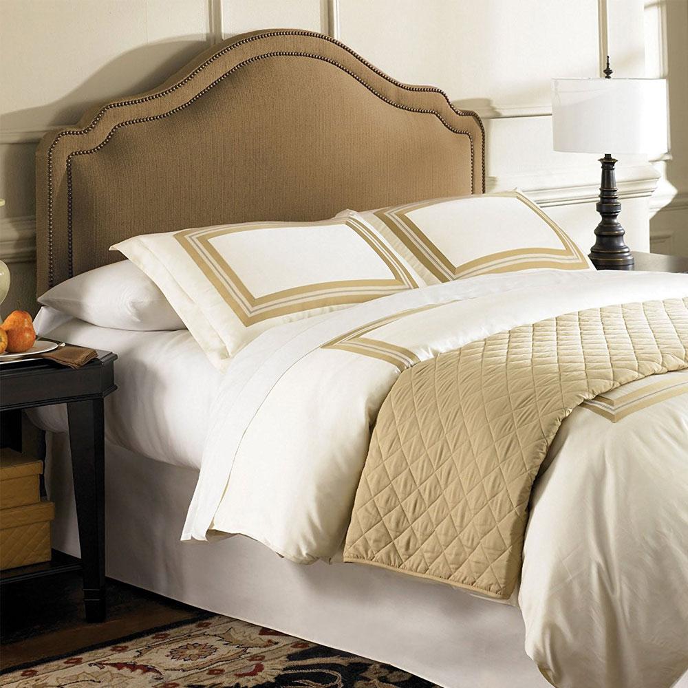 Versailles Padded Headboard Brown Sugar In Beds And