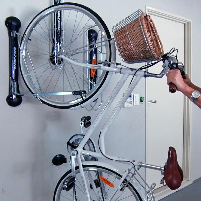 Steadyrack Vertical Bike Rack Fender Style In Wall Bike