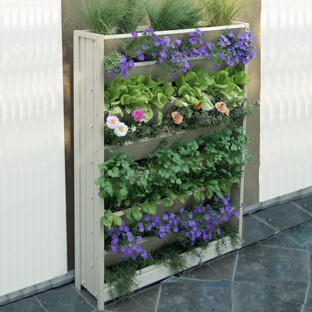 Vertical garden planter in garden plant stands for Garden planters