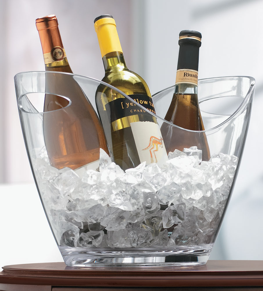 vino gondola acrylic wine bucket  clear in barware - click any image to view in high resolution