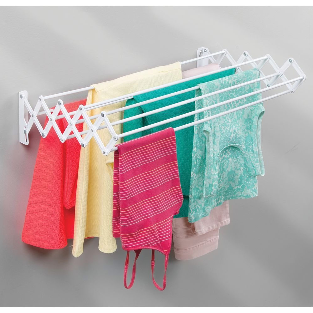 Wall Mounted Drying Rack In Laundry Drying Racks