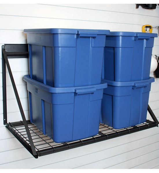 Wall Mounted Storage Shelf Proslat In Proslat Garage Storage