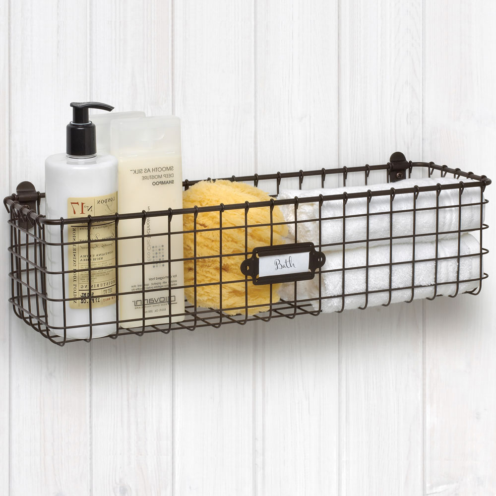 wall mounted wire baskets storage home ideas