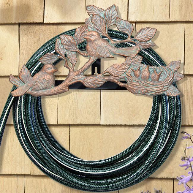 Decorative Hose Holder Chickadee In Garden Hose Storage