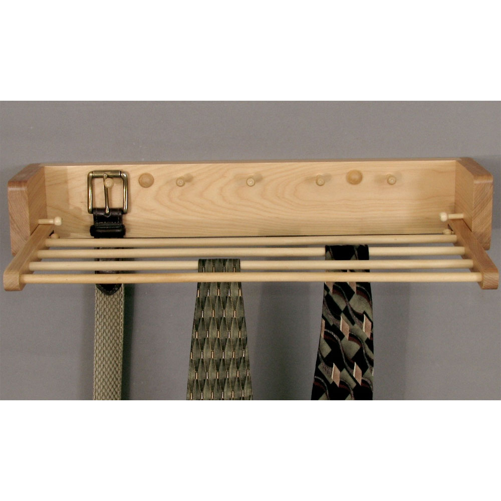 Wood Tie And Belt Rack In Tie And Belt Racks