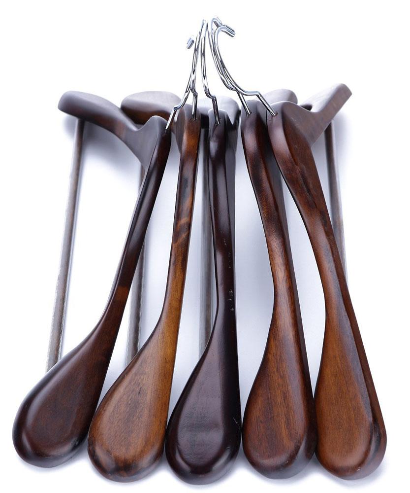 Wooden Suit Hangers - Extra Wide Shoulder (Set of 5) in ...
