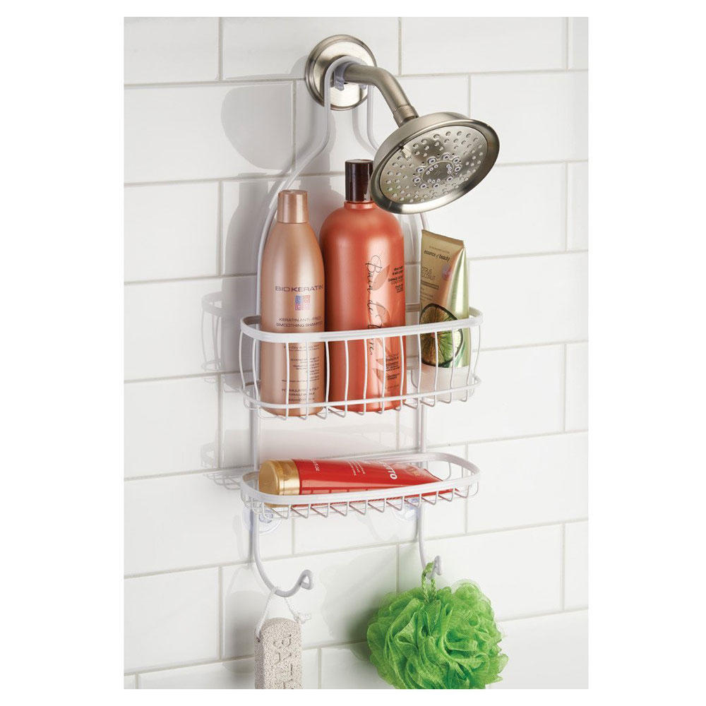 York Hanging Shower Caddy - White in Shower Caddies
