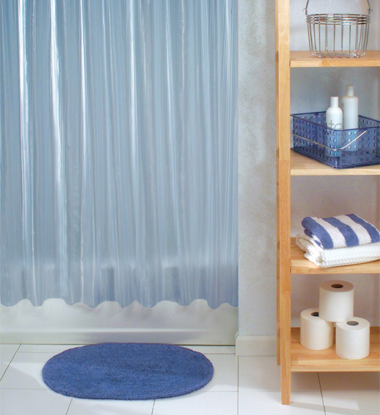 zia vinyl shower curtain in shower curtains and rings