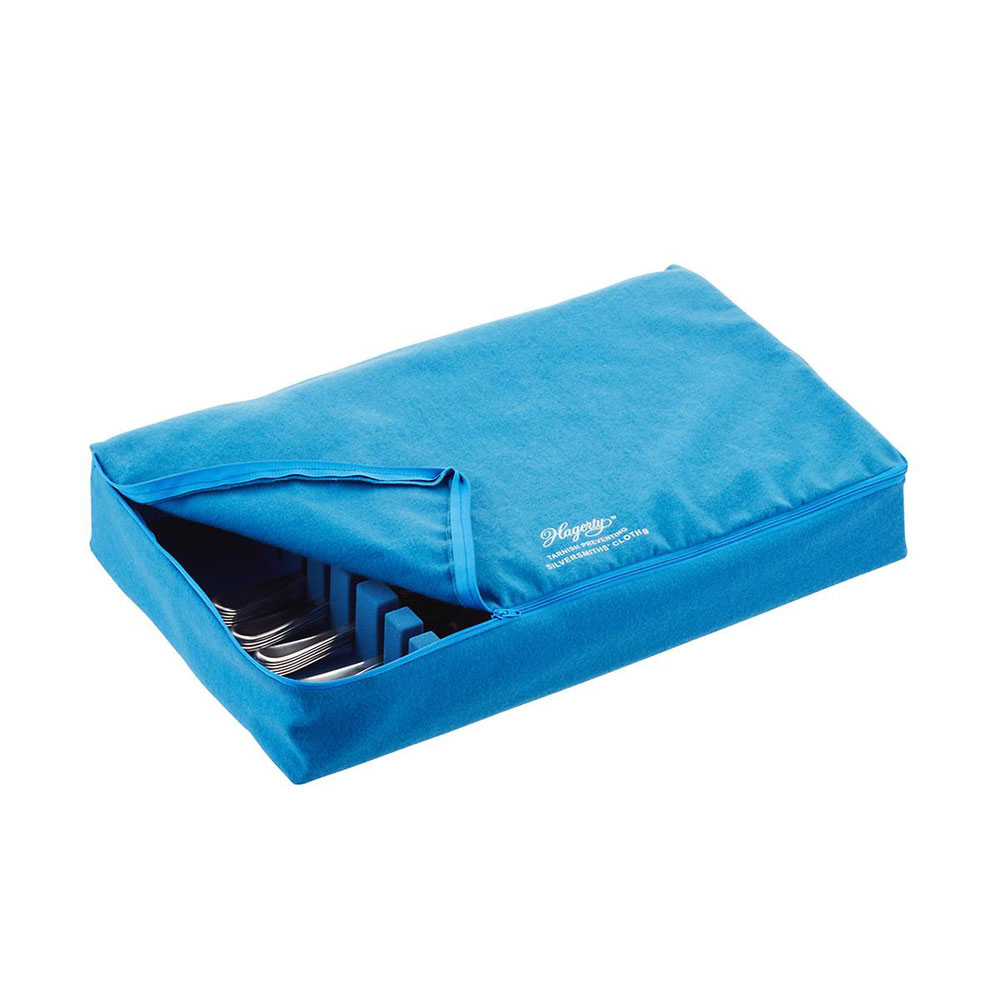 Zippered Flatware Drawer Liner In Silver Cleaning