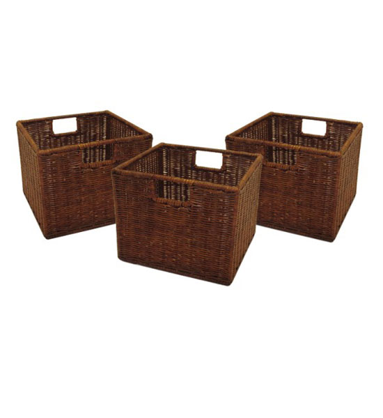 Hall bench with storage baskets in storage benches Bench with baskets
