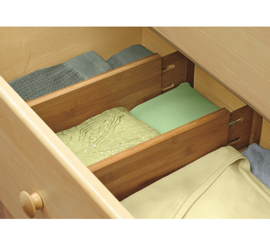 Expanding Bamboo Drawer Dividers