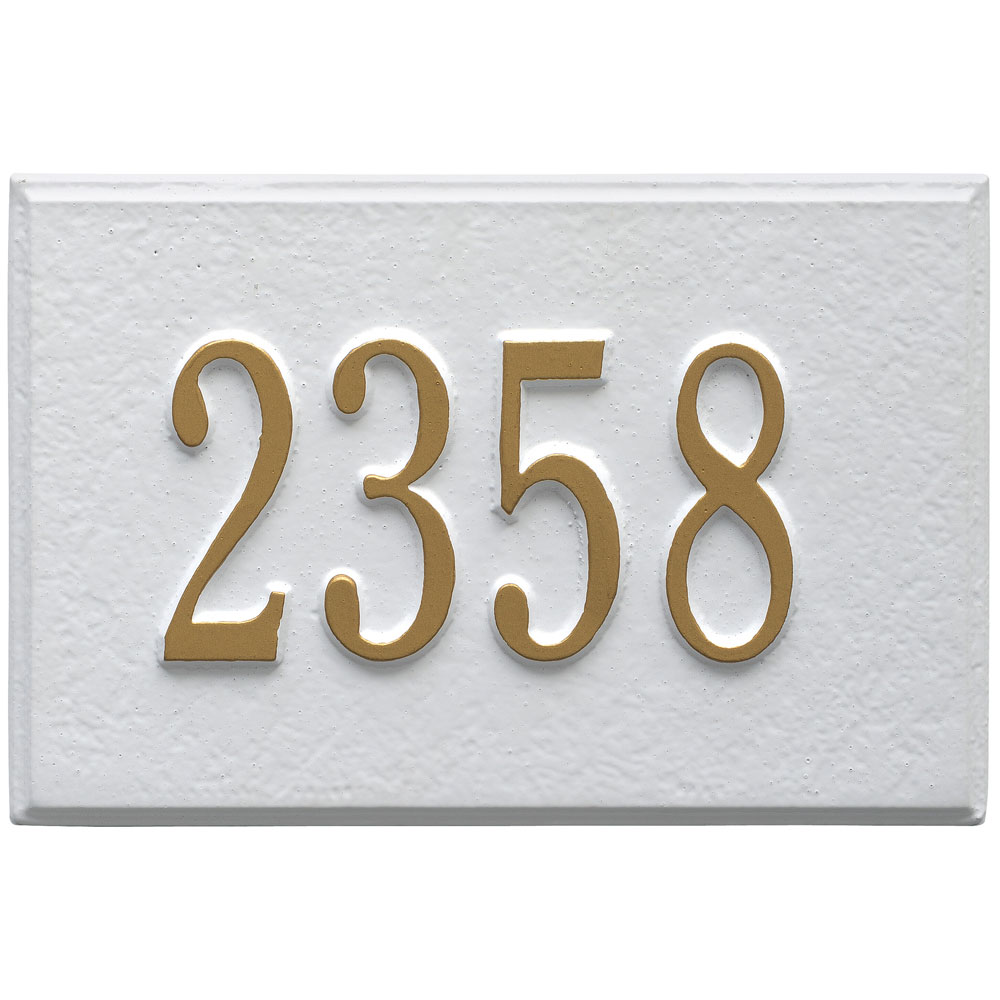 aluminum address plaque for mailbox in home mailboxes. Black Bedroom Furniture Sets. Home Design Ideas