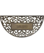Aluminum Filigree Arch Personalized Doormat