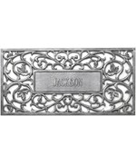 Aluminum Filigree Personalized Doormat