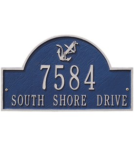 Anchor Arch Wall Address Plaque - Two-Line Image