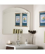 Angel Large Frameless Wall Mirror by Decor Wonderland
