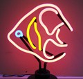 Angelfish Neon Sculpture