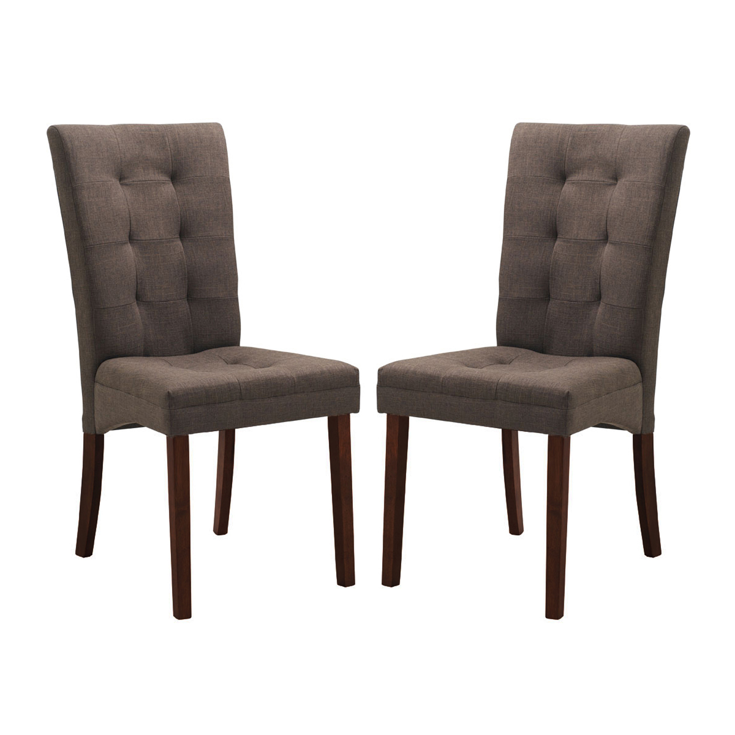 Anne Brown Fabric Dining Chairs Set Of 2 By Wholesale