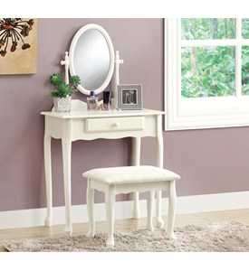 Antique White 2PCS Vanity Set by Monarch Specialties Image