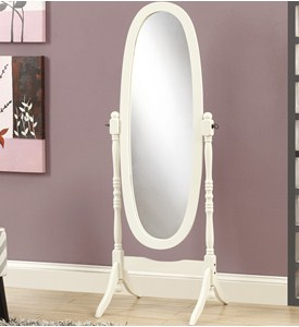 Solid Wood Oval Cheval Mirror Image