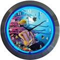 Aquarium Neon Wall Clock