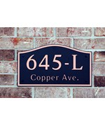 Arch Address Plaque Personalized by Dekorra