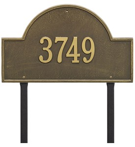 Arch Lawn Address Plaque - Estate One-Line Image