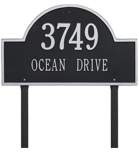 Arch Lawn Address Plaque - Estate Two-Line Image