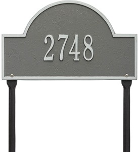 Arch Lawn Address Plaque - One-Line Image
