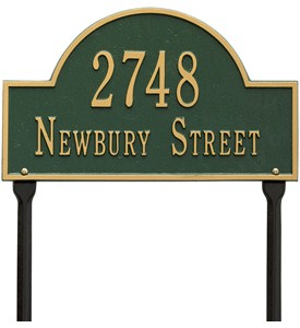 Arch Lawn Address Plaque - Two-Line Image