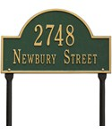 Arch Lawn Address Plaque - Two-Line