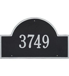 Arch Wall Address Plaque - Estate One-Line Image