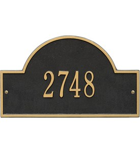 Arch Wall Address Plaque - One-Line Image