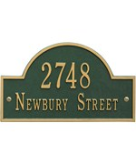Arch Wall Address Plaque - Two-Line
