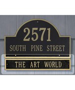 Arch Home Address Plaque Extension - Estate
