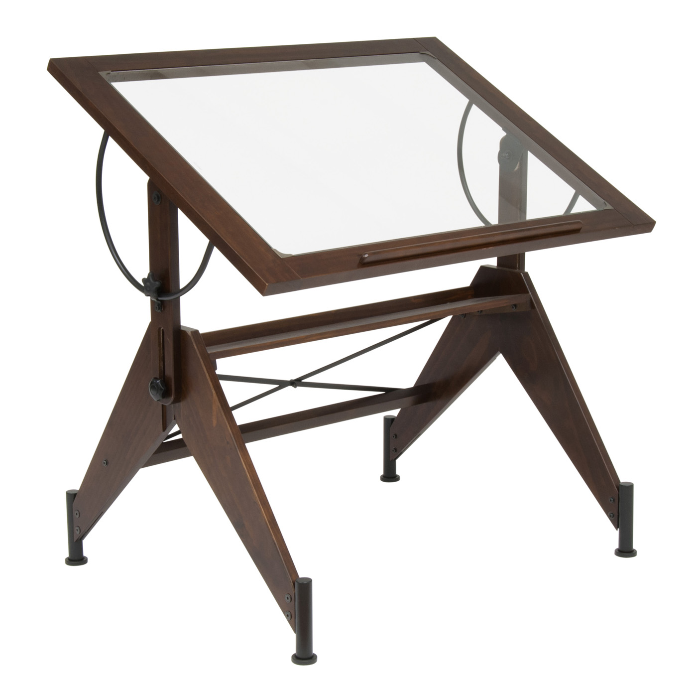Aries glass top drafting table by studio designs in drafting tables - Drafting table designs ...