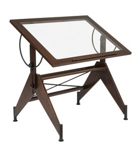Aries Glass Top Drafting Table by Studio Designs Image