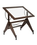 Aries Glass Top Drafting Table by Studio Designs