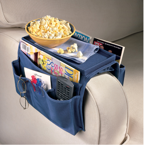 Sofa Over Arm Caddy In Remote Control Organizers