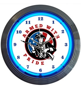 Armed with Pride Firearms Neon Clock Image